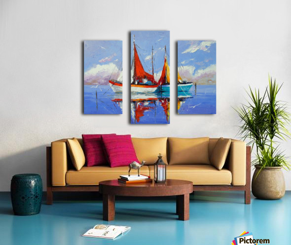 Sailboats in the sea Canvas print