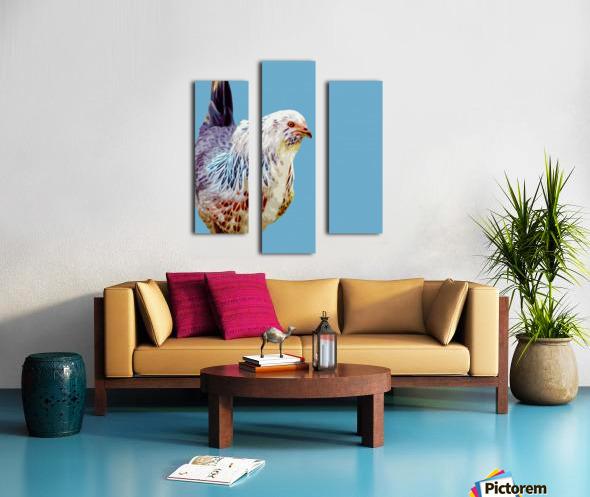 chicken pop art blue Canvas print
