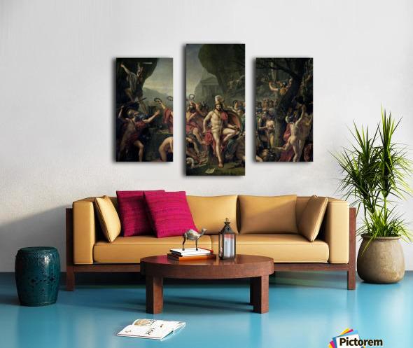 Leonidas at Thermopylae Canvas print