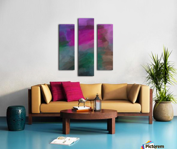 Magenta and Green Canvas print