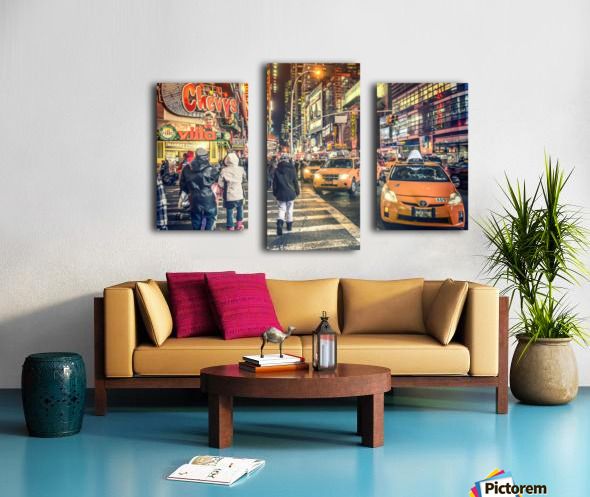 New York City Taxi Mayhem  Canvas print