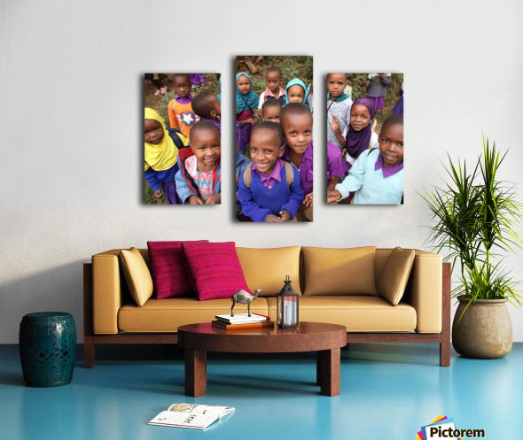Many Faces of Africa Canvas print