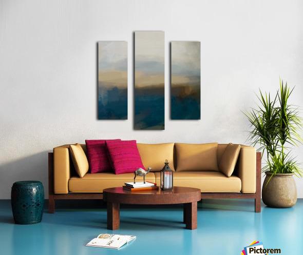 Lapis Blue Landscape Canvas print