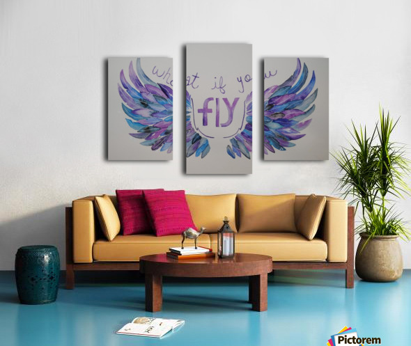 What if you fly  Canvas print