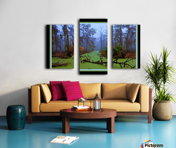 Jurassic Swamp  - HDR - Double Matted and Framed Canvas print