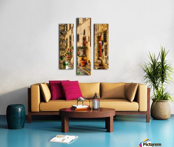Around The Corner in Cortona Canvas print