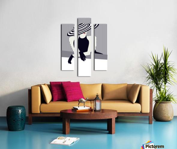 Riviera glamour Canvas print