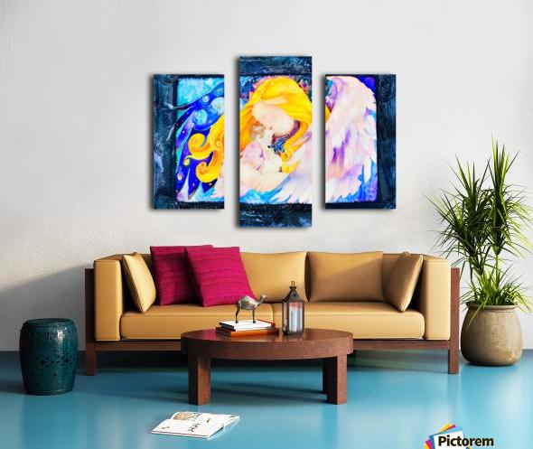 Held full frame Canvas print
