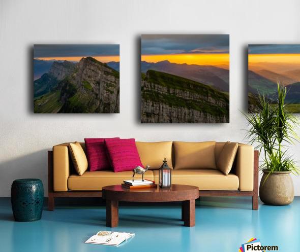 sunset at Chäserrugg Canvas print