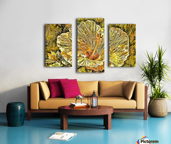 Fanciful Floral Canvas print