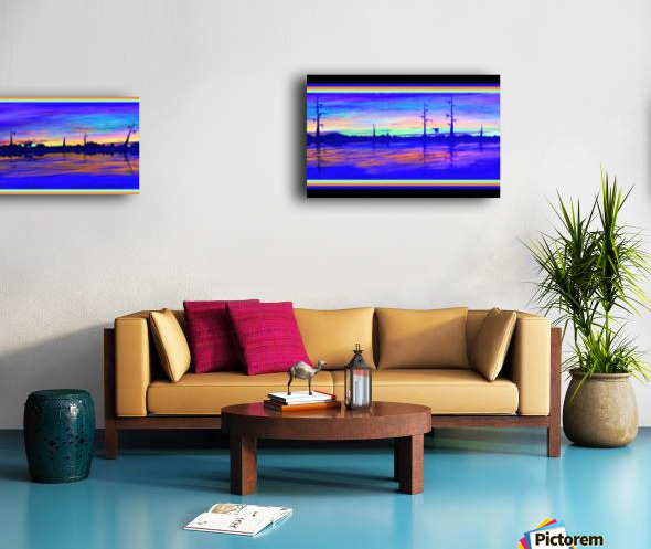 WINTER MARSH IV  -  BLACKLIGHT VERSION Canvas print