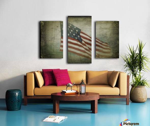 Fifteen Star Flag Canvas print