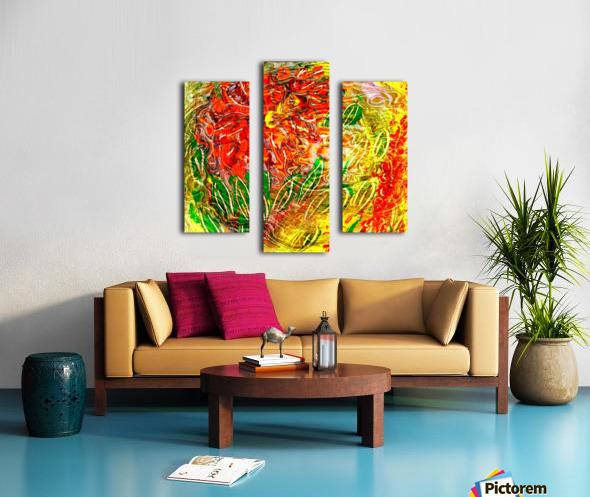 orange flower energy abstraction Canvas print