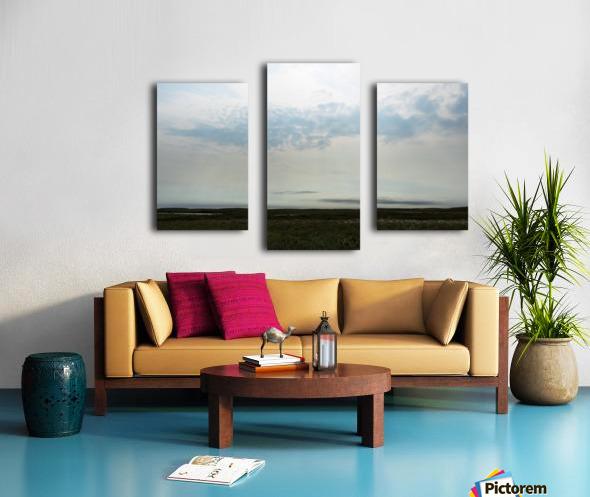 Bright sky in Tuktoyaktuk Canvas print