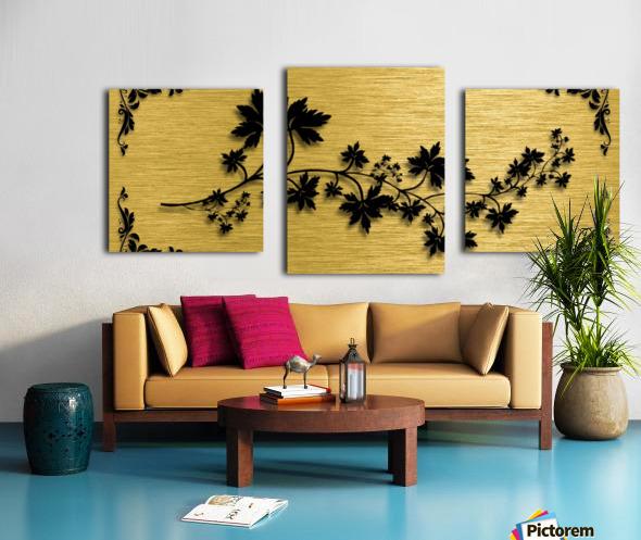Gold illustration for interior decoration 3 Canvas print