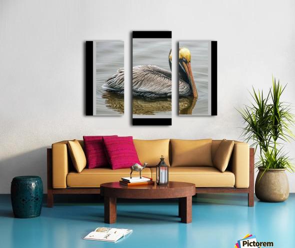 Brown Pelican II - HDR Canvas print
