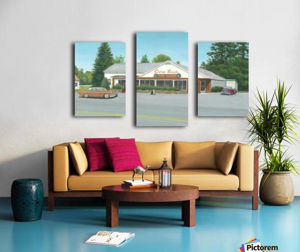 Cross Roads Store- Newtown Scenes 12 X 20  Canvas print