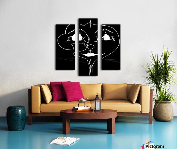 I Will Smile -Black Canvas print