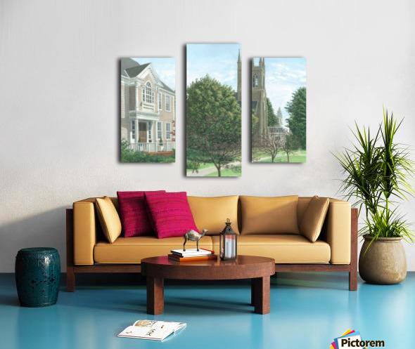 Main Street At Church Hill Road - Newtown Scenes 16X20 Canvas print