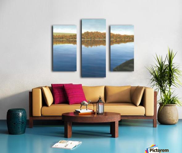 Rowboat on Taunton Lake - Newtown Scenes 16X20 Canvas print