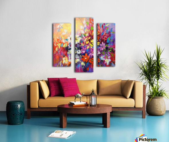 Dance of flowers Canvas print