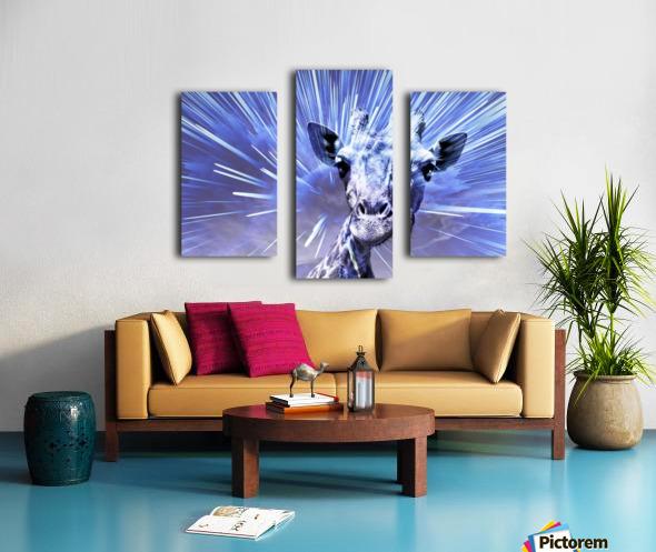 Giraffe pop 2   Canvas print