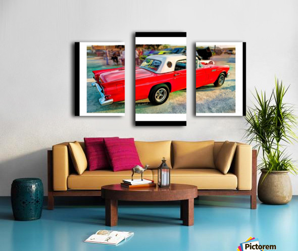 1957 FORD THUNDERBIRD - HDR - PAINTING Canvas print