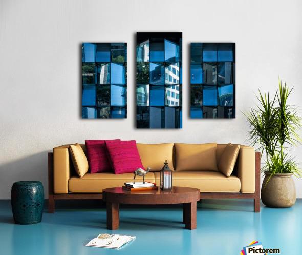 Blue Mirrors Canvas print