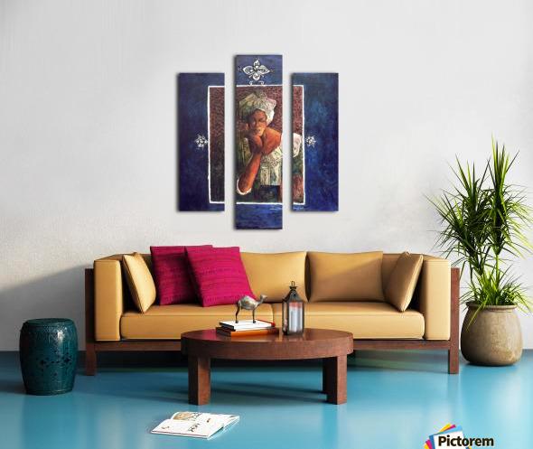 Femme au turban Canvas print