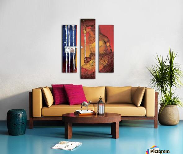 Massai Canvas print