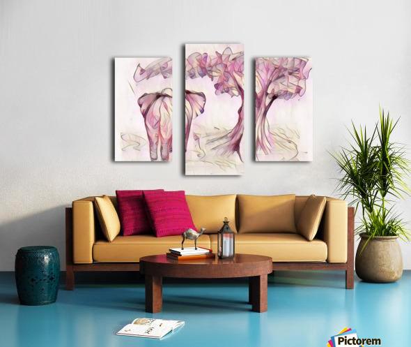 Léléphant sous larbre Canvas print