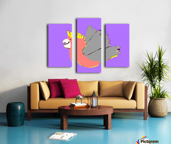 Happy Galah - Purple Canvas print