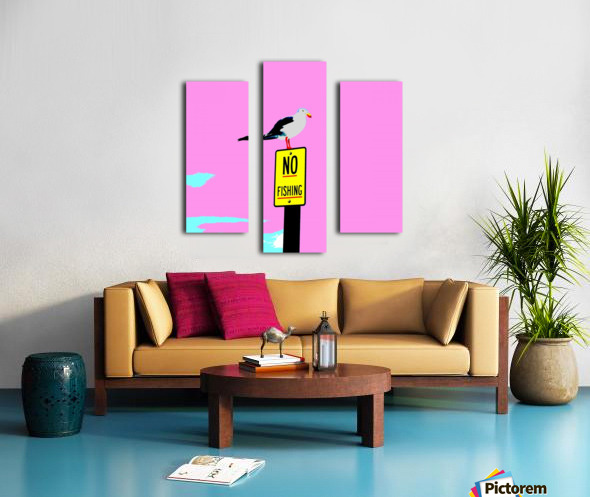 NO Fishing - Pink Canvas print