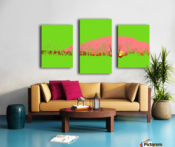 Lake Sunset - Green Canvas print