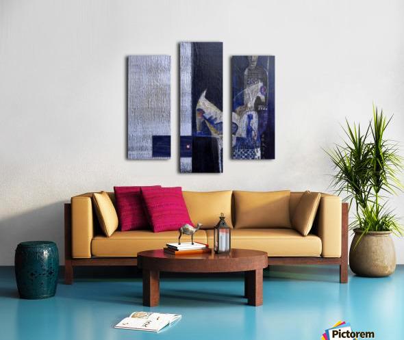 Blue Horserider 1 Canvas print