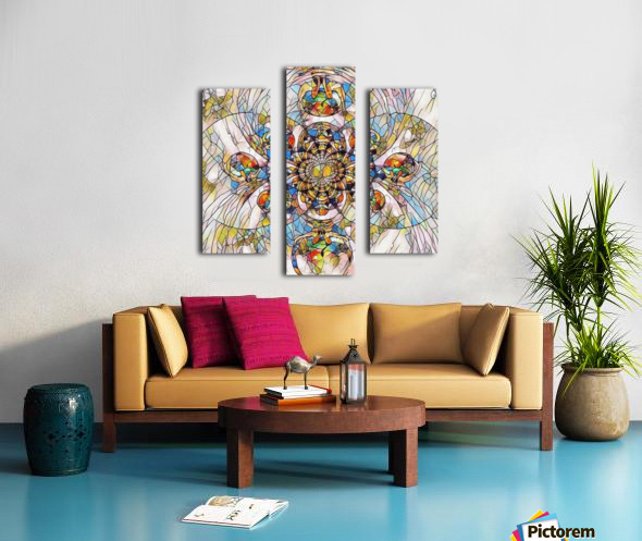 Mosaic Fractal Canvas print