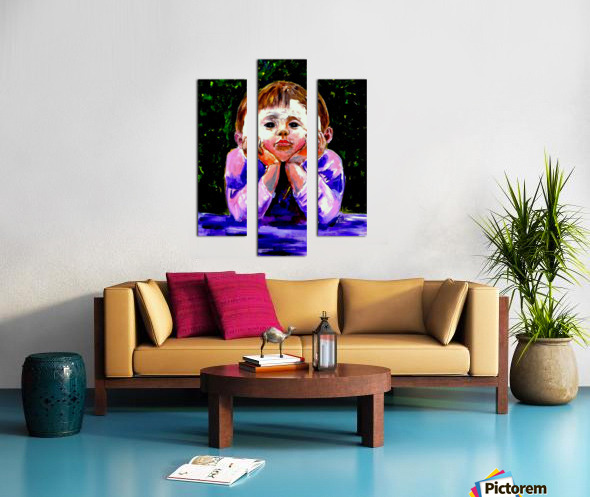 A Young Boy is Waiting Impression sur toile