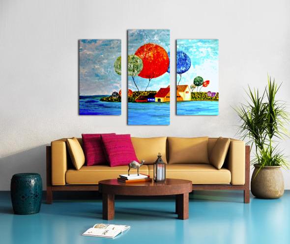 The Fishing Village Canvas print