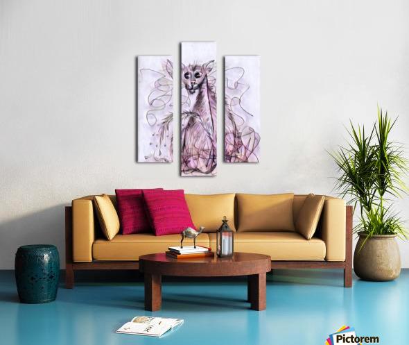 chat mouillé Canvas print