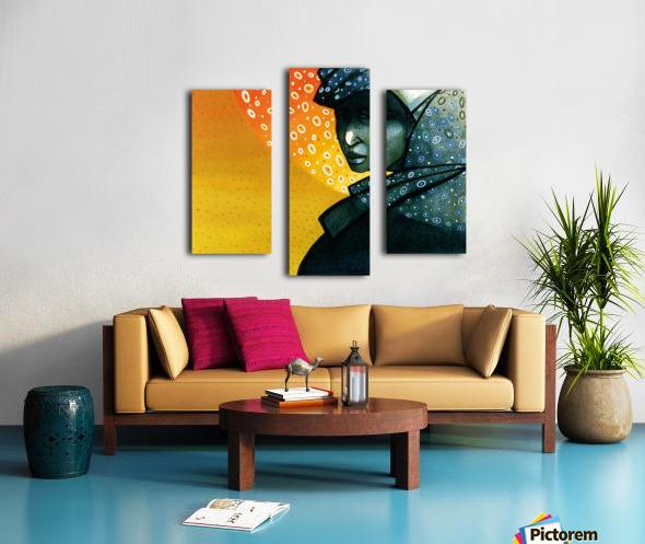 Femme soleil Canvas print