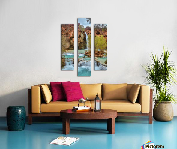 life is like a river Canvas print
