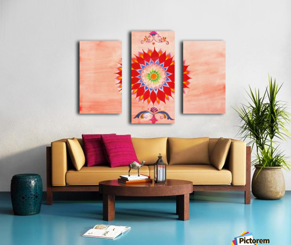 Shaded Figurative painting. Canvas print