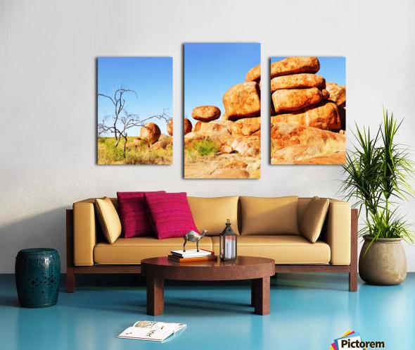 Landscape - Devils Marbles Canvas print