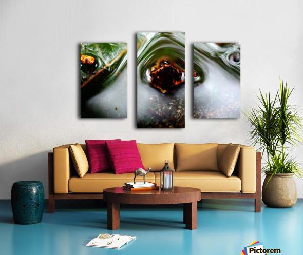 Macro Raindrop Photography Art 45 Canvas print