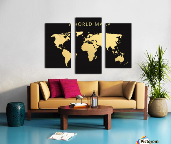 map world 2 Canvas print