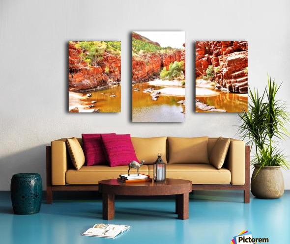 Waterhole - Ormiston Gorge Canvas print
