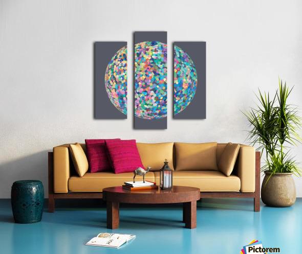 RONDI pastel medium grey Canvas print