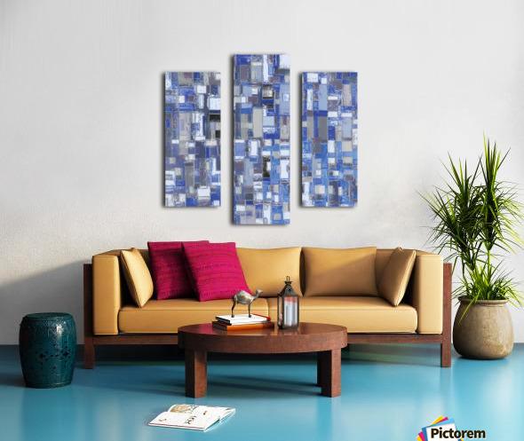 STAGE chrome blue Canvas print