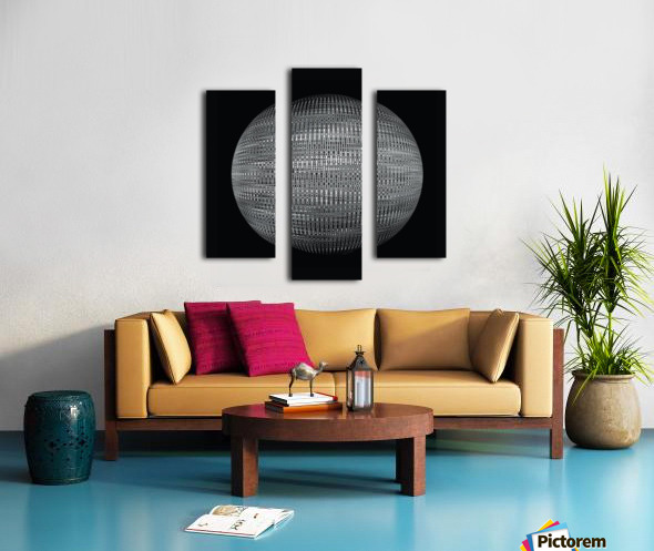ORB Black and white Canvas print