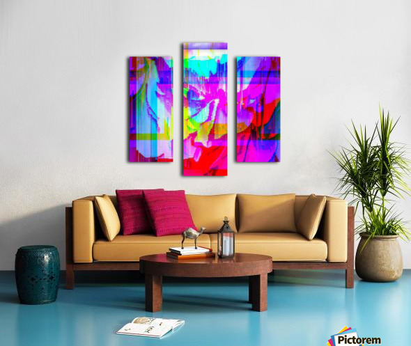 Modern Abstract Portrait  Canvas print